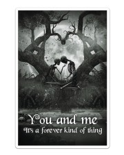 Skull - You And Me Poster Sticker tile