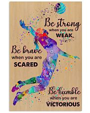 Volleyball - Be Strong 11x17 Poster front