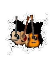 Guitar  Crack V1 Sticker - Single (Vertical) front