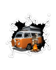 Camper Van Crack Sticker - Single (Vertical) front
