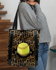 Softball - Leopard - Zip Pocket All-over Tote aos-all-over-tote-lifestyle-front-09
