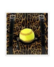 Softball - Leopard - Zip Pocket Sticker tile