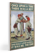 Baseball Once Upon A Time Gallery Wrapped Canvas Prints tile