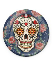 Rose Skull Ornament Circle ornament - single (porcelain) front