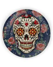 Rose Skull Ornament Circle Ornament (Wood tile