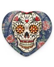 Rose Skull Ornament Heart Ornament (Porcelain) tile