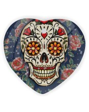 Rose Skull Ornament Heart Ornament (Wood) tile
