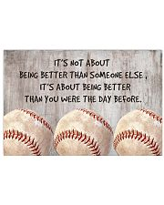 Baseball - Being Better 17x11 Poster front