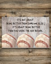 Baseball - Being Better 17x11 Poster poster-landscape-17x11-lifestyle-14