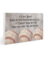 Baseball - Being Better Gallery Wrapped Canvas Prints tile
