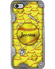 Softball Bling Phone Case i-phone-8-case