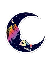Camping Moon Sticker - Single (Vertical) front