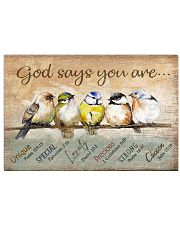 Birds God Says You Are 17x11 Poster front