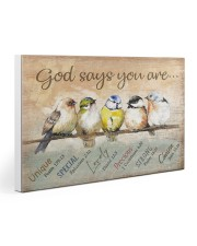 Birds God Says You Are Gallery Wrapped Canvas Prints tile