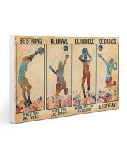 Volleyball - Be Strong Gallery Wrapped Canvas Prints tile