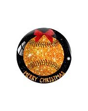 Baseball Christmas Circle Magnet tile
