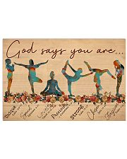 Yoga - God Says You Are 17x11 Poster front
