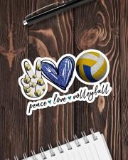 Peace Love Volleyball  Sticker - Single (Horizontal) aos-sticker-single-horizontal-lifestyle-front-05