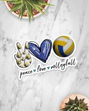Peace Love Volleyball  Sticker - Single (Horizontal) aos-sticker-single-horizontal-lifestyle-front-06