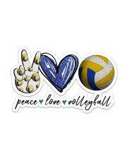 Peace Love Volleyball  Sticker - Single (Horizontal) front