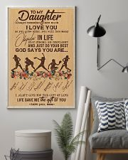 To My Daughter God Says You Are - Softball 11x17 Poster lifestyle-poster-1
