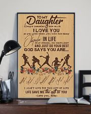 To My Daughter God Says You Are - Softball 11x17 Poster lifestyle-poster-2