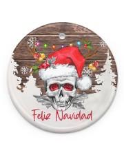 Skull - Feliz Navidad Circle ornament - single (porcelain) front