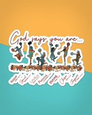 Cheer Leading - God Says You Are Sticker - Single (Horizontal) aos-sticker-single-horizontal-lifestyle-front-02