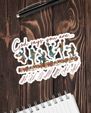 Cheer Leading - God Says You Are Sticker - Single (Horizontal) aos-sticker-single-horizontal-lifestyle-front-05