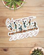 Cheer Leading - God Says You Are Sticker - Single (Horizontal) aos-sticker-single-horizontal-lifestyle-front-07