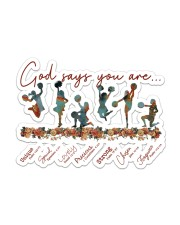 Cheer Leading - God Says You Are Sticker - Single (Horizontal) front