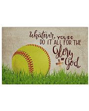 Softball - Glory Of God  17x11 Poster front