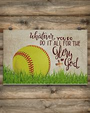 Softball - Glory Of God  17x11 Poster poster-landscape-17x11-lifestyle-14