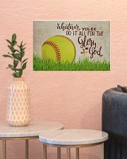 Softball - Glory Of God  17x11 Poster poster-landscape-17x11-lifestyle-21