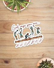 God Says You Are Volleyball  Sticker - Single (Horizontal) aos-sticker-single-horizontal-lifestyle-front-07
