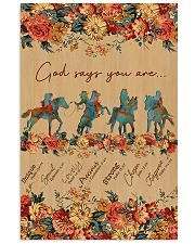 Horse Riding God Says You Are 11x17 Poster front