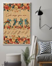Horse Riding God Says You Are 11x17 Poster lifestyle-poster-1