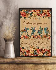 Horse Riding God Says You Are 11x17 Poster lifestyle-poster-3
