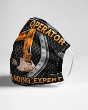 Excavator Operator Social Distancing Expert Cloth face mask aos-face-mask-lifestyle-21