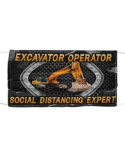 Excavator Operator Social Distancing Expert Cloth face mask front