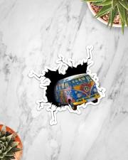 Hippie Car Crack Sticker - Single (Vertical) aos-sticker-single-vertical-lifestyle-front-06