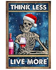 Skull - Think Less Live More Christmas Poster 11x17 Poster front