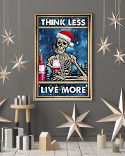 Skull - Think Less Live More Christmas Poster 11x17 Poster lifestyle-holiday-poster-1
