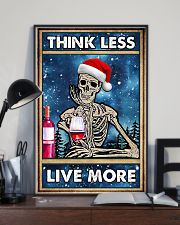 Skull - Think Less Live More Christmas Poster 11x17 Poster lifestyle-poster-2