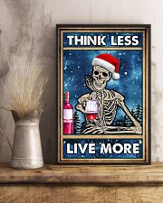 Skull - Think Less Live More Christmas Poster 11x17 Poster lifestyle-poster-3