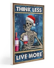 Skull - Think Less Live More Christmas Poster 20x30 Gallery Wrapped Canvas Prints thumbnail