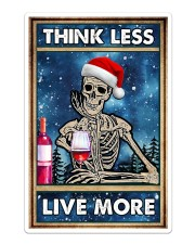 Skull - Think Less Live More Christmas Poster Sticker - Single (Vertical) thumbnail