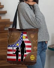Softball Mom Tote All-over Tote aos-all-over-tote-lifestyle-front-09