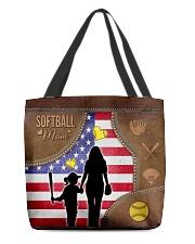 Softball Mom Tote All-over Tote back
