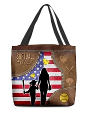 Softball Mom Tote All-over Tote front